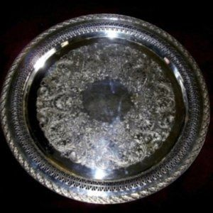 """Vintage Rogers & Son Silverplate 15"""" Tray"""